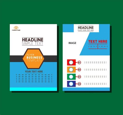 free layout design ai business flyer design layout modern style free vector in
