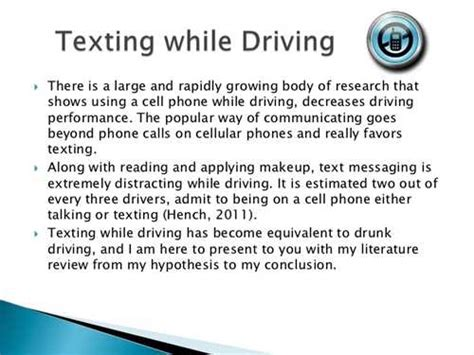 Texting While Driving Persuasive Essay by Texting While Driving Argumentative Essay