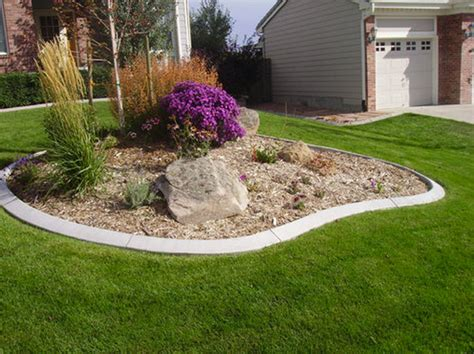 front yard island landscape denver by endless services