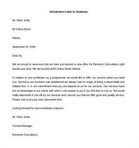 Introduction Letter For Opening 10 letter of introduction templates free sle