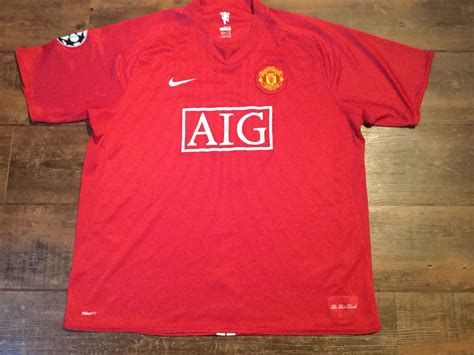 Jersey Retro Manchester United Home 2007 global classic football shirts 2007 manchester united ronaldo vintage soccer jerseys