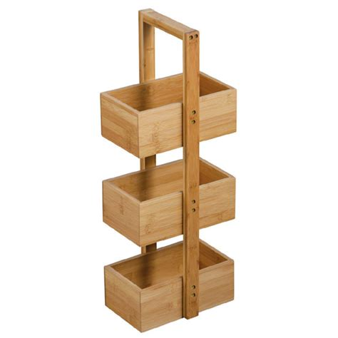 Bathroom Storage Caddy 3 Tier Bamboo Caddy Now Available At Plumbing Co Uk