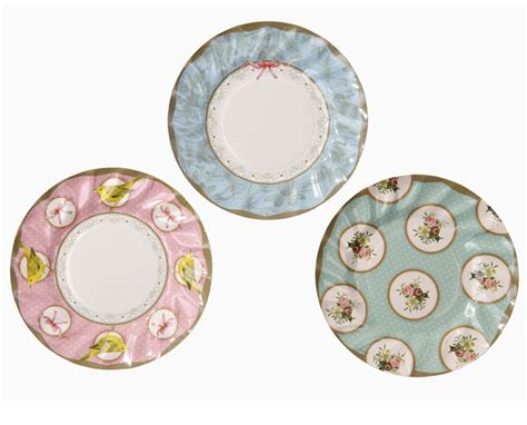 shabby chic plates 12 luxury vintage style afternoon tea paper plates