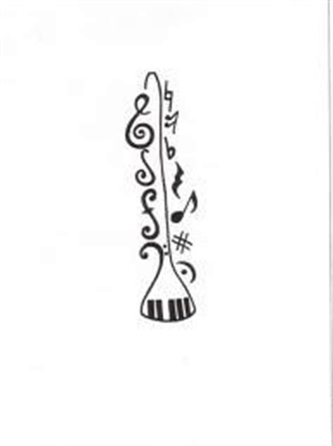 tattooed heart clarinet clarinet tattoo ideas but full outline no tribal ends