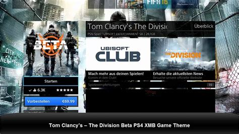 ps4 themes xmb tom clancy s the division beta ps4 xmb game theme youtube