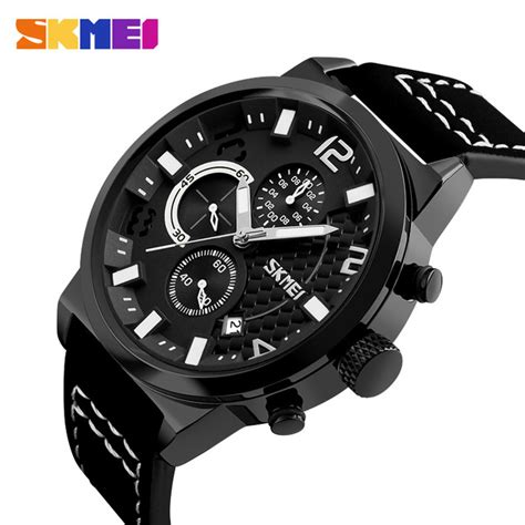 Skmei Jam Tangan Analog Pria 1135cl Black White T3010 3 Skmei Jam Tangan Analog Pria 9149cl Black White