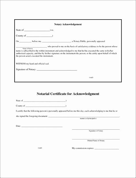 6 Affidavit Form Sle Ms Word Sletemplatess Sletemplatess Notary Template Word