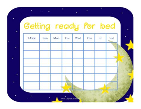 how to get ready for bed printable get ready for bed