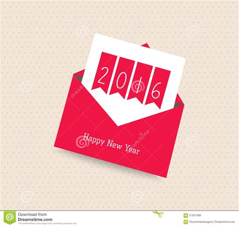 new year envelope greeting happy new year 2016 greeting card with envelope stock