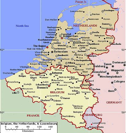map of germany and belgium with cities germany