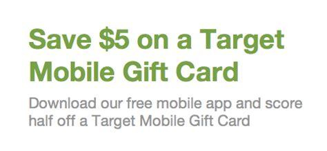 Target Mobile App Gift Card - get groupon app buy 10 target mobile gift card for only 5 all things target