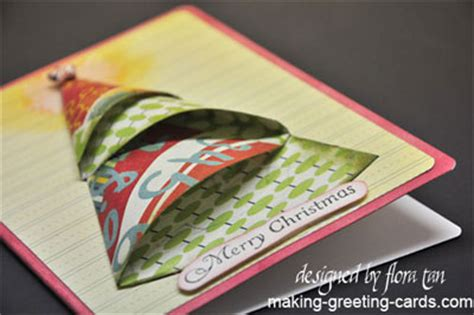 folded tree card template bright origami tree card template and