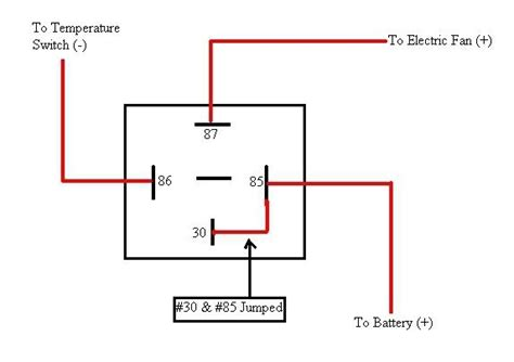 electric fan relay install fan relay wiring car wiring diagram images database