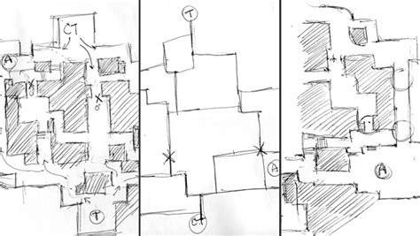 game level design layout 3 workflow techniques how to draw top down level design