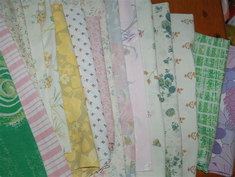 Ebay Patchwork Fabric - selection of vintage retro fabric remnants material