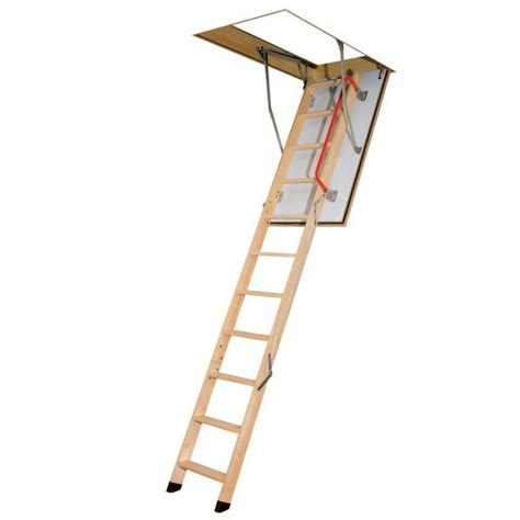 three section ladders 3 section timber folding loft ladder