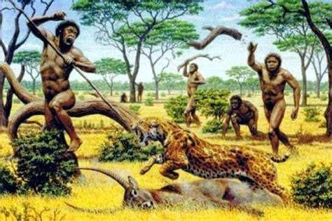 imagenes realistas de la prehistoria la edad de piedra vida del hombre y sus herramientas
