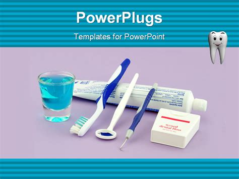 dental powerpoint templates free a small assortment of dental health equipment that a