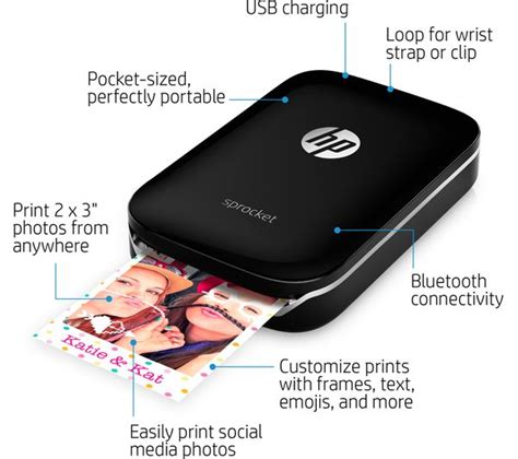 Kitchen Features by Buy Hp Sprocket Mobile Photo Printer Black Free
