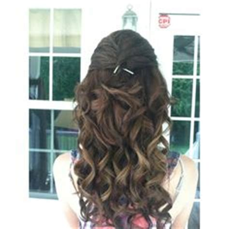 prom curly half up half down front and back view prom on pinterest prom dresses gold prom dresses and