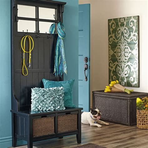 black hall tree bench 8 welcoming entryway benches that maximize storage space