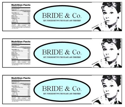 Free Bridal Shower Water Bottle Label Template Free Printable Water Bottle Labels Template Breakfast At