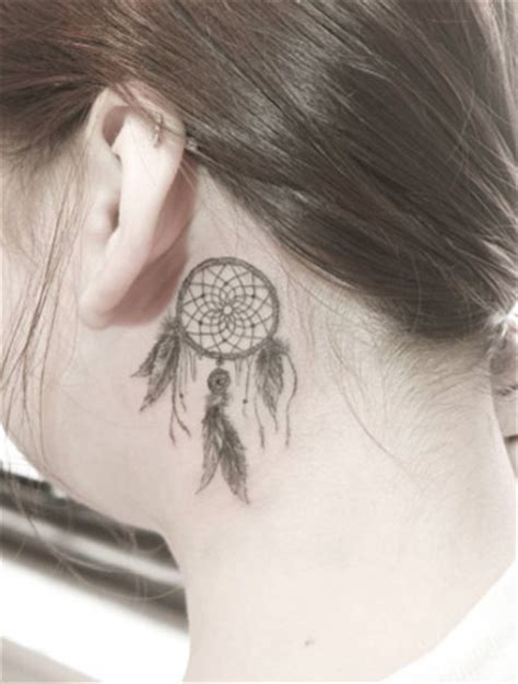 small dreamcatcher tattoo behind ear 40 amazing the ear tattoos for tattooblend