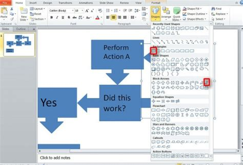how to make flowchart in powerpoint best way to make a flow chart in powerpoint 2010