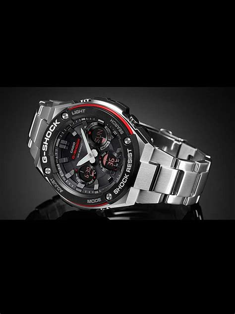 G Shock Gst W100d 1aer casio g shock black aviator bracelet gst w100d 1a4er