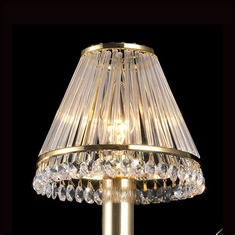 Black And Gold L Shade Uk by Diyas Il30200 Gold Plated Glass Shade