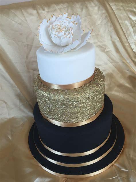 gold themed cake white black and gold wedding cake www pixshark com