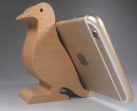Wood Mobile Holder wooden bird shaped mobile phone holder stand try later holders