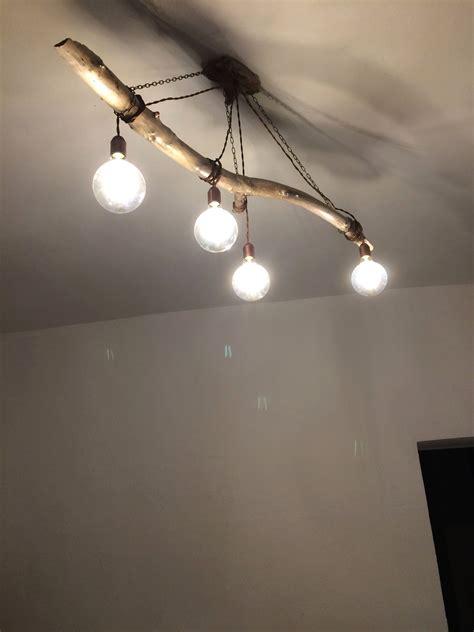lampadari fai da te  legno  semplici idee fai da te