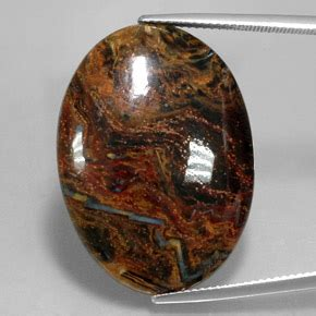 Ruby 21 7ct multicolor pietersite 23 7ct oval from namibia and