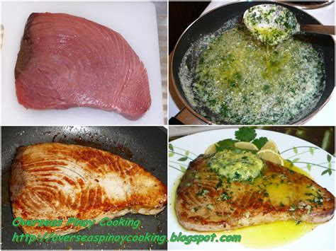 overseas pinoy cooking tuna steak with butter garlic and