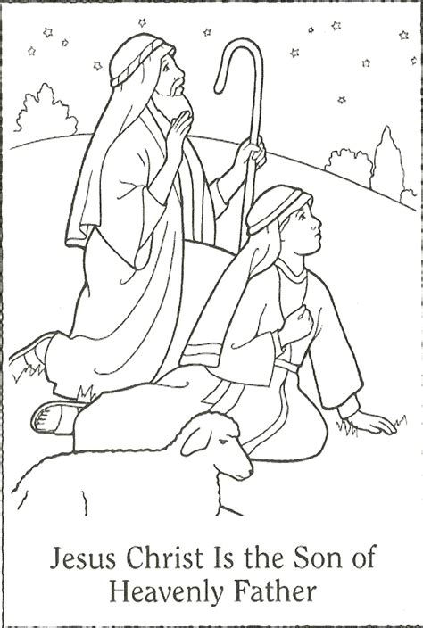 nativity coloring page lds free coloring pages of nativity template