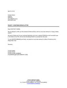 Christmas bonus letter template amp sample form biztree com