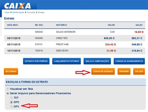 extrato caixa 2015 conferir o extrato banc 193 rio software de controle financeiro