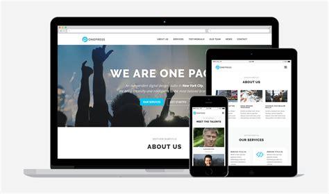 themes wordpress one page free free one page wordpress theme 2017 onepress