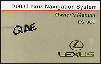 book repair manual 2003 lexus es on board diagnostic system 2003 lexus es 300 navigation system owners guide book original