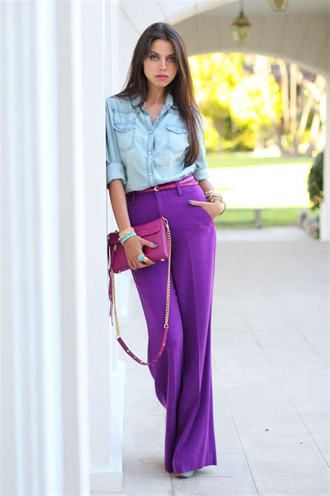colors that look good with purple how to wear high waist pants glam radar