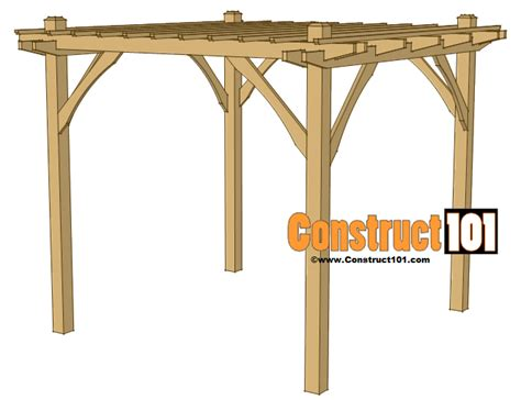 easy pergola plans simple diy pergola plans construct101