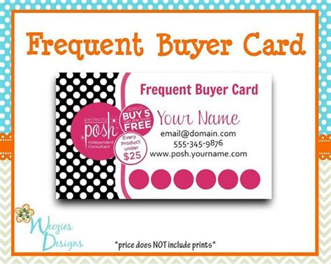 Perfectly Posh Business Card Template by Perfectly Posh Frequent Buyer Card Business Card Direct