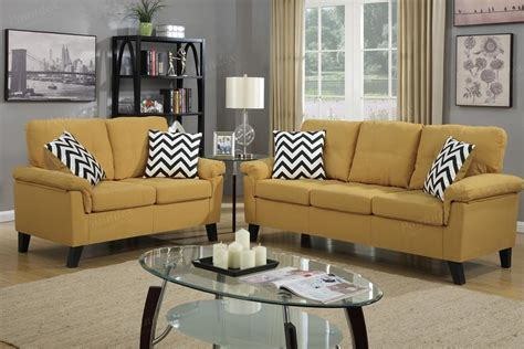 yellow sofas and loveseats yellow fabric sofa and loveseat set steal a sofa