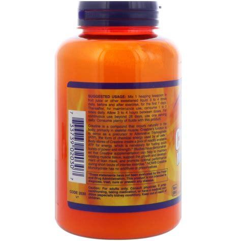 8 creatine clear now foods sports creatine monohydrate powder 8 oz