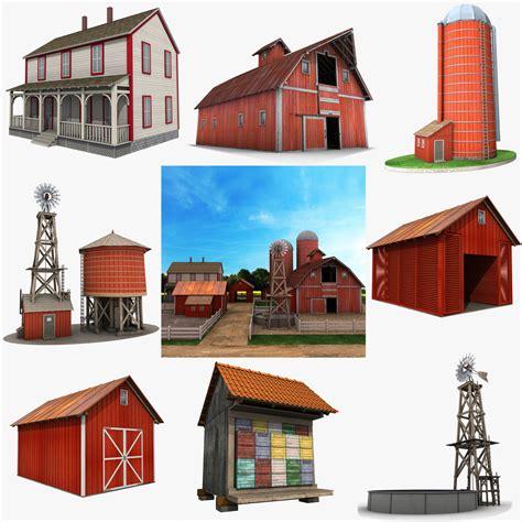 granero png granja granero rojo modelo 3d imagenes png pinterest