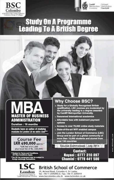 Cardiff Fees For Mba by Cardiff Metropolitan Master Of Business