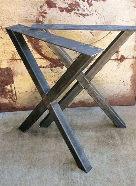 diy welded table legs contemporary steel table legs that just need a clean wood counter top or wood slab welds