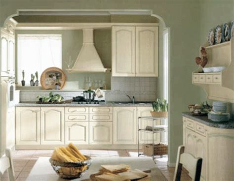 Green Kitchen Walls With White Cabinets Green Design Bookmark 20573