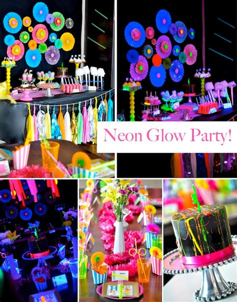 themes for teenage birthday parties kara s party ideas neon glow in the dark teen birthday